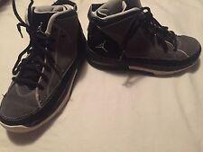 Nike Air Jordan Flight School Boys Size 4Y Black Gray