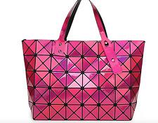 High Quality BAO BAO Issey Miyake Metallic ROSE PINK TOTE Bag  NEW