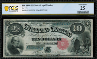 "1880 $10 Legal Tender FR-113 -""Jackass"" - Graded PCGS 25 Comment - Very Fine"