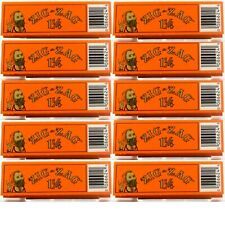 10 Packs Zig Zag Orange 1 1/4 Rolling Papers Slow Burning Fast USA Shipper