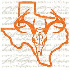 Texas Buck Hunter Hunting Vinyl Decal Sticker Deer Skull Stag Deer Hunt Car Auto