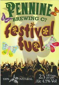 PENNINE BREWING CO (WELL) - FESTIVAL FUEL - PUMP CLIP FRONT