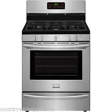 "Frigidaire Stainless Steel 30"" Gas Convection Freestanding Range Fggf3058Rf"