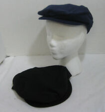7cc83f002d5 Lot of 2 Men s Navy   Black Newsboy Caps Cabbie Hats Golf Fitted Size Small  NEW