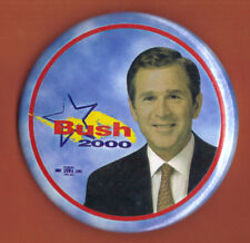 """2000 George W Bush 3"""" / """"Shooting Star"""" Presidential Campaign Button(Pin 01)"""