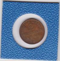 2 Pfennig Preussen 1868 C Frankfurt Wilhelm I Prussia