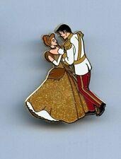 Dvc Disney Gold Golden Princess Cinderella & Prince Charming Dancing Le 500 Pin