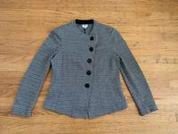 Armani Collezioni Womens sz 6 Chevron textured Jacket blazer