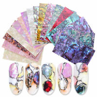 Shell Abalone 3D Nail Art Sticker Gradient  Flakes Nail Foil Decal Tips