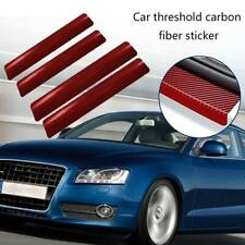4Pcs 3D Carbon Faser Auto Threshold Schutz Aufkleber Anti Friction