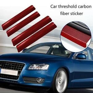 4Pcs 3D Carbon Faser Auto Threshold Schutz Aufkleber Anti Friction