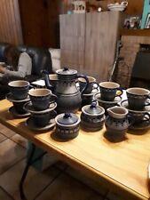 service à cafe GRES DE LA ROCHE JOS KALB ancien modèle vintage