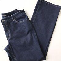 TAHARI Women's Jeans Size (12) Long Mid Rise Dark Wash Stretch 33x33