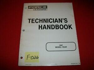FORCE OUTBOARD TECHNICIANS HANDBOOK 1997 MODEL YEAR # 90-823871970 796