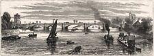 Nouveau PUTNEY BRIDGE, ouverte par le Prince & Princesse de Galles. Londres, Imprimé, 1886