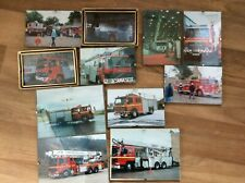 More details for 11 x small uk  fire brigade photographs framed- freepost uk