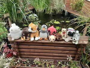 Stuffed Animal Soft Toy Plush Bundle Marvel Deadpool, Dog, Cat, Keel Toys Husky