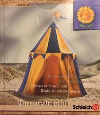 Schleich Zubehör Ritterburg Turnierzelt blau Ritter 42010 knight tent NEU OVP