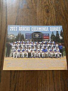 "Rancho Cucamonga Quakes Minor Baseball 11"" x 8.5"" 2011 Team Photo Mattingly"