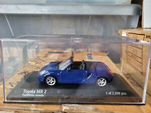 MINICHAMPS - TOYOTA MR2 SPYDER [BLUE METALLIC] VHTF MINT BOX GOOD