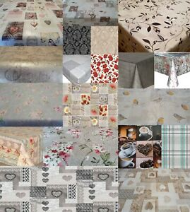 Luxury Plain Printed Wipe Clean PVC Vinyl Party Traditional Vintage Table Cloths