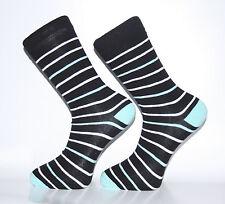Alta Qualità Nero, Bianco e lignt blu a righe Calzini
