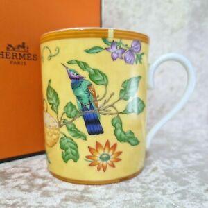 Rare Authentic Hermes Paris Porcelain Mug Cup LA SIESTA Ornament w/ Case (MINT)