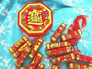 XXXL 125cm CHINESE FAUX FIRECRACKERS HANGING CHARM PARTY DECORATION - NOT REAL