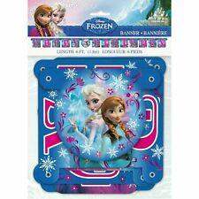 "Disney Frozen Theme ""Happy Birthday"" Banner Jointed Birthday Supplies Favor Elsa"