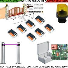 CANCELLO AUTOMATICO 1/2 ANTE KIT ELETTRON. RICAMBIO CENTRALE FOTOC 7 RADIOC FARO