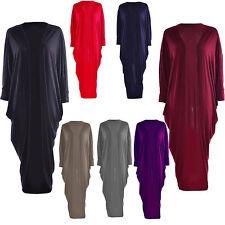 Patternless Short Sleeve Long Jumpers & Cardigans for Women