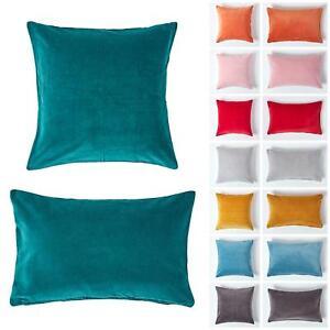 Super Soft Cotton Plain Luxury Velvet Cushion Covers with Hidden Zip Clouser