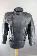 CLASSIC SPORTEX BLACK LEATHER BIKER JACKET 38 INCH