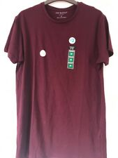 Brand New With Tags Mens Burgundy Primark T Shirt Size M