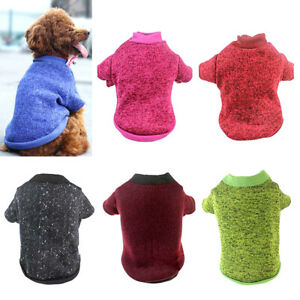 Pet Cat Jumper Sweater Chihuahua Yorkie Small Dog Puppy Fleece Coat Warm Clothes