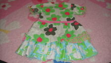 OILILY SASALSA 104 4-5 GREEN FLOWER DRESS
