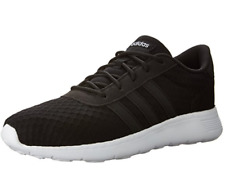 adidas Lite Racer Womens UK 5.5 Black Black White Running Shoes Trainers AW4960