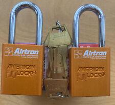 New 2 Pack American Lock A1106kaor Padlock Aluminum Orange Series 1100