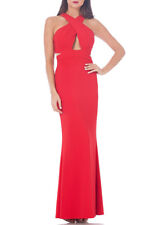 JS Collections Cutout Ottoman Mermaid Gown, Red, 6