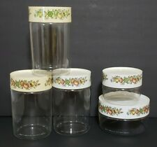 Lot of 5 Vintage Pyrex Corning Spice of Life Canister Glass Sets - Mix