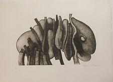 Gravure aquatinte de François BEALU signée numér. Atlante nue 1975 surrealism **