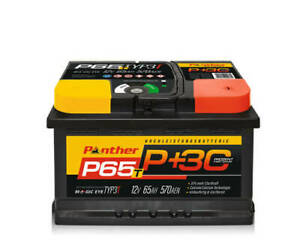 Autobatterie Starterbatterie Panther Black Edition +30%  12V 65Ah 570A P+65T