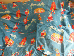 CHRISTMAS DOUBLE DUVET COVER SET SANTAS TRAVELS REVERSIBLE ALL CLEAN KITSCH CUTE