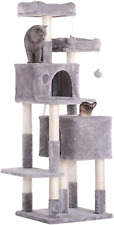 New listing 60 Inches Multi-Level Cat Tree Condo Furniture With Sisal-Covered Scratching Pos