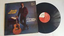 JACK SCOTT I Remember Hank Williams Vinyl Lp Record Album Top Rank RM 319 US