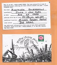 BICENTENNIAL CELLEBRATION IONIA NY AUG 24,1989   ART COVER EXCHANGE (ACE) GRIER