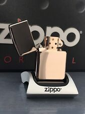 ZIPPO LIGHTER HIGH POLISH ROSE GOLD MADE IN 1998 VERY RARE