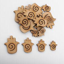 Wooden MDF Shapes Crafts Hamsa Scrapbook Embellishments Decoration Card Making