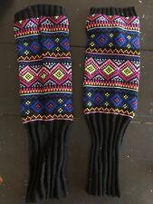 The Childrens Place Leg Warmers Girls 4-7 Winter Geometric Design 6A