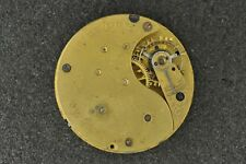 VINTAGE SCARCE U.S WATCH CO.  POCKET WATCH MOVEMENT - FOR PARTS